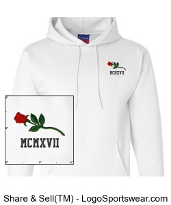 Custom Rose/Birth Year CHAMPION Pullover Design Zoom